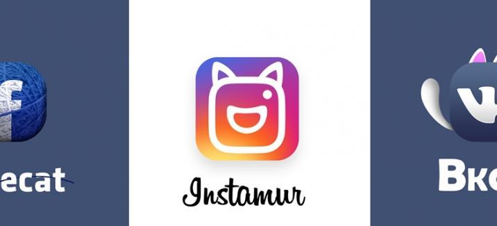 Логотипы кошачьих социальных сетей