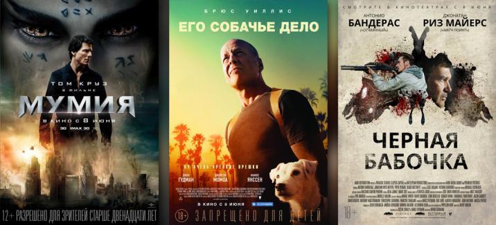 Кинопремьеры второй недели июня 2017