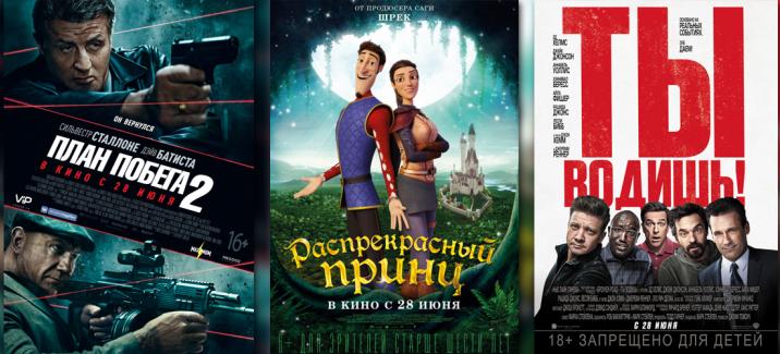 Кинопремьеры четвёртой недели июня 2018
