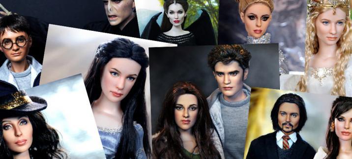 Ноэль Круз создает кукол в образе героев фильмов «Сумерки», «Гарри Поттер» и «Властелин Колец»